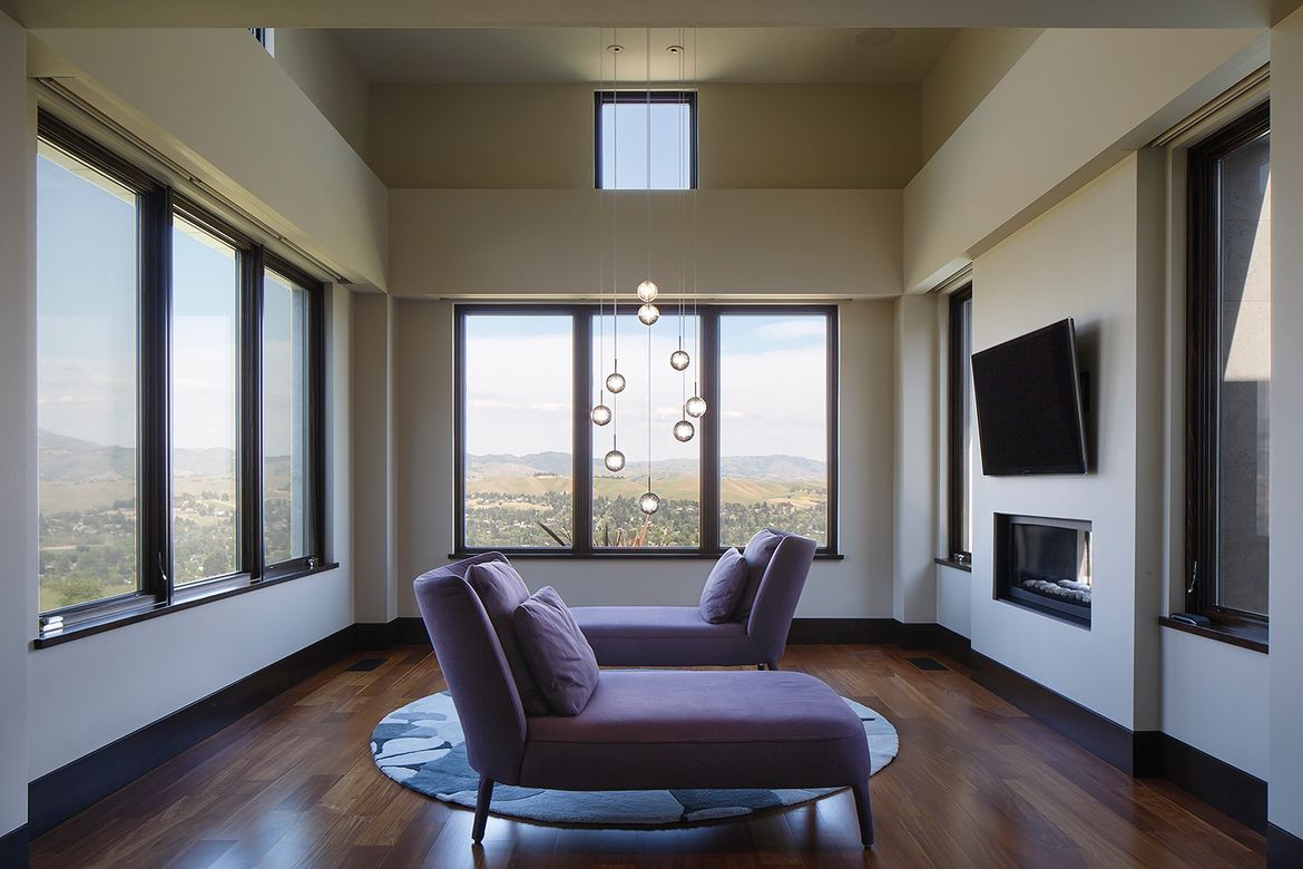 Off the master bedroom in the Modern Serenity house.