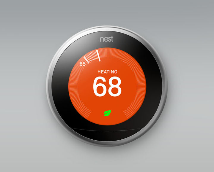 The Nest Learning Thermostat, available from SAGE by Hughes