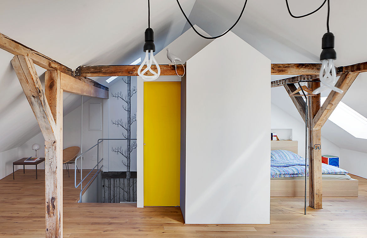 Loft with student designs in Weimar, Germany