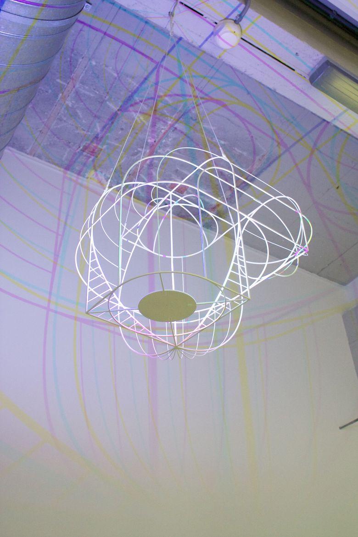 Dennis Parren's CMYK chandelier