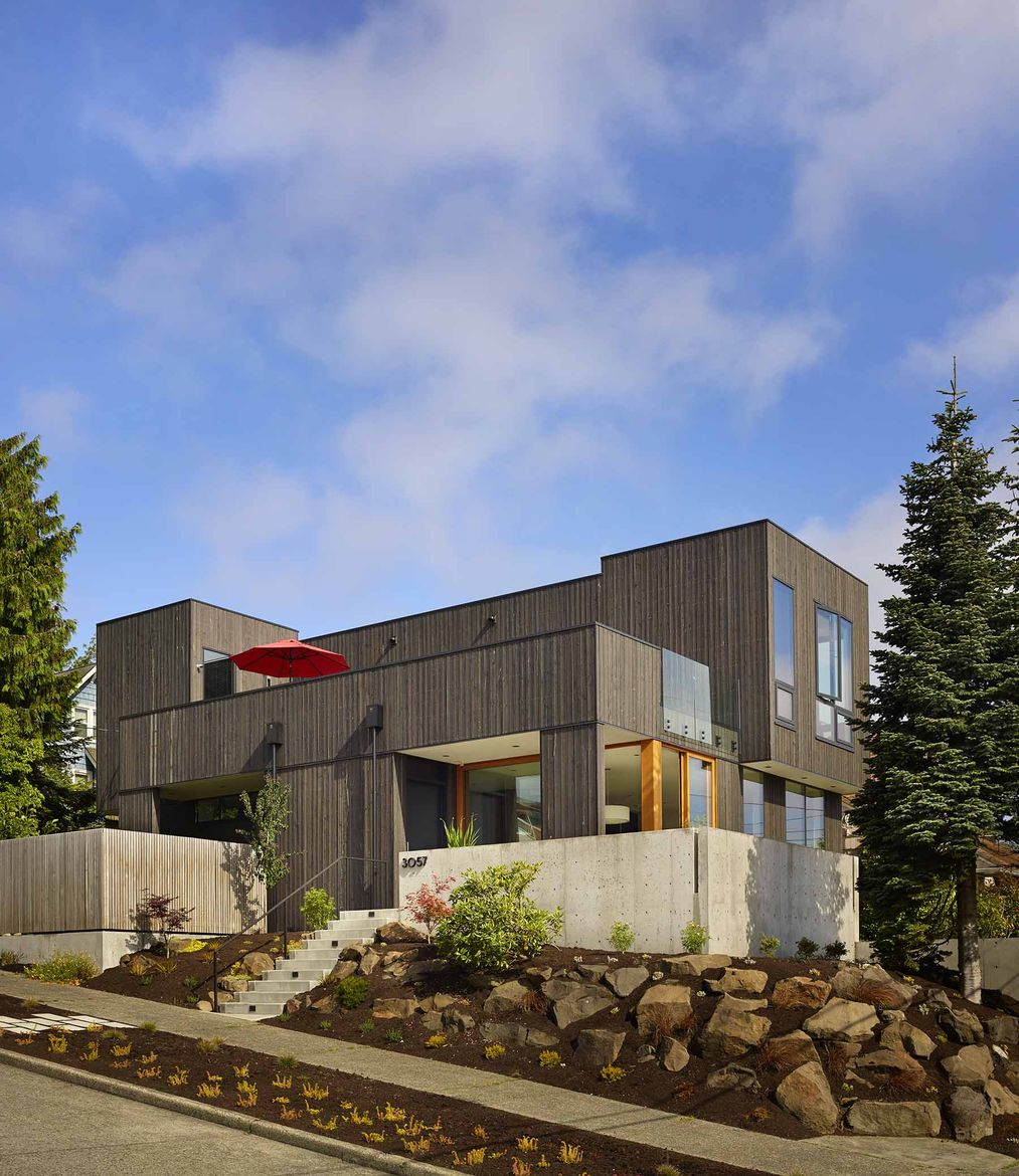 Larch-clad home in Seattle.