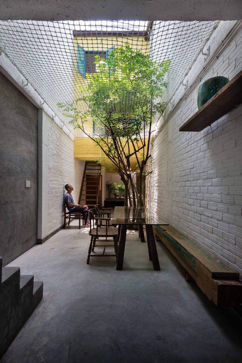 "An ""alley"" inside a Saigon home"