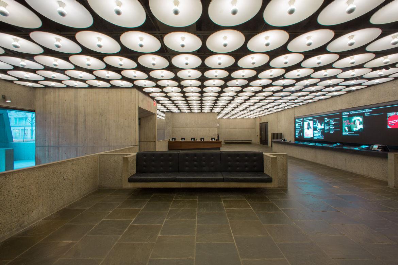 Met Breuer new lobby, restored by Beyer Blinder Belle