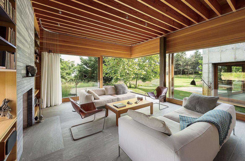 Martha's Vineyard prefab living room