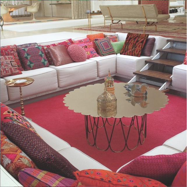 Conversation pit at the Miller House in Columbis, Indiana, by Girard, Saarinen and Kiley