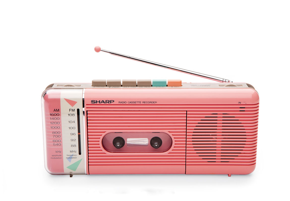 QT-50 Cassette Recorder and AM/FM radio.