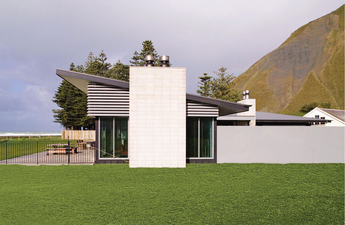 New Zealand beach house with five bedrooms