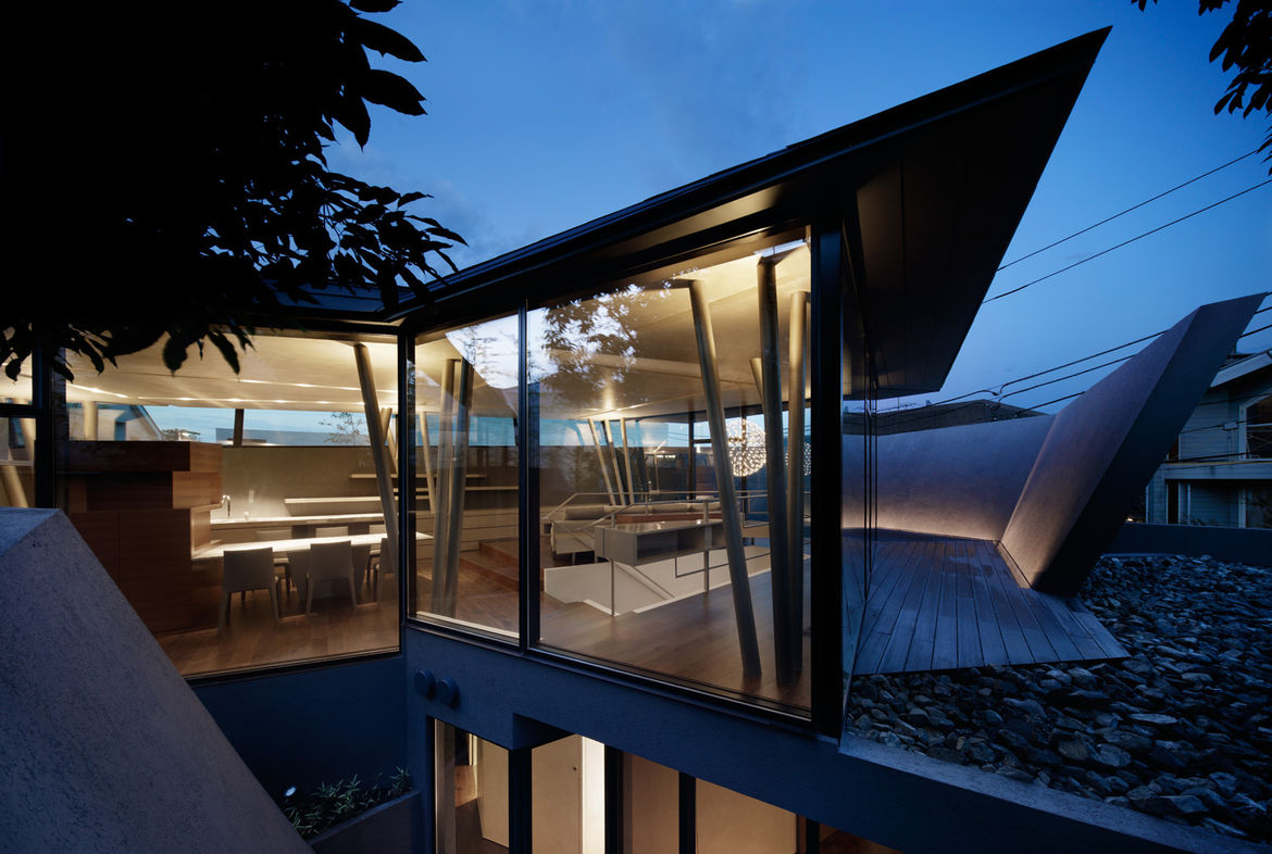 Exterior of Tokyo house by Artechnic.