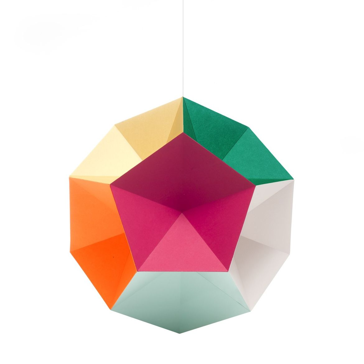 Colorful geometric hanging mobile