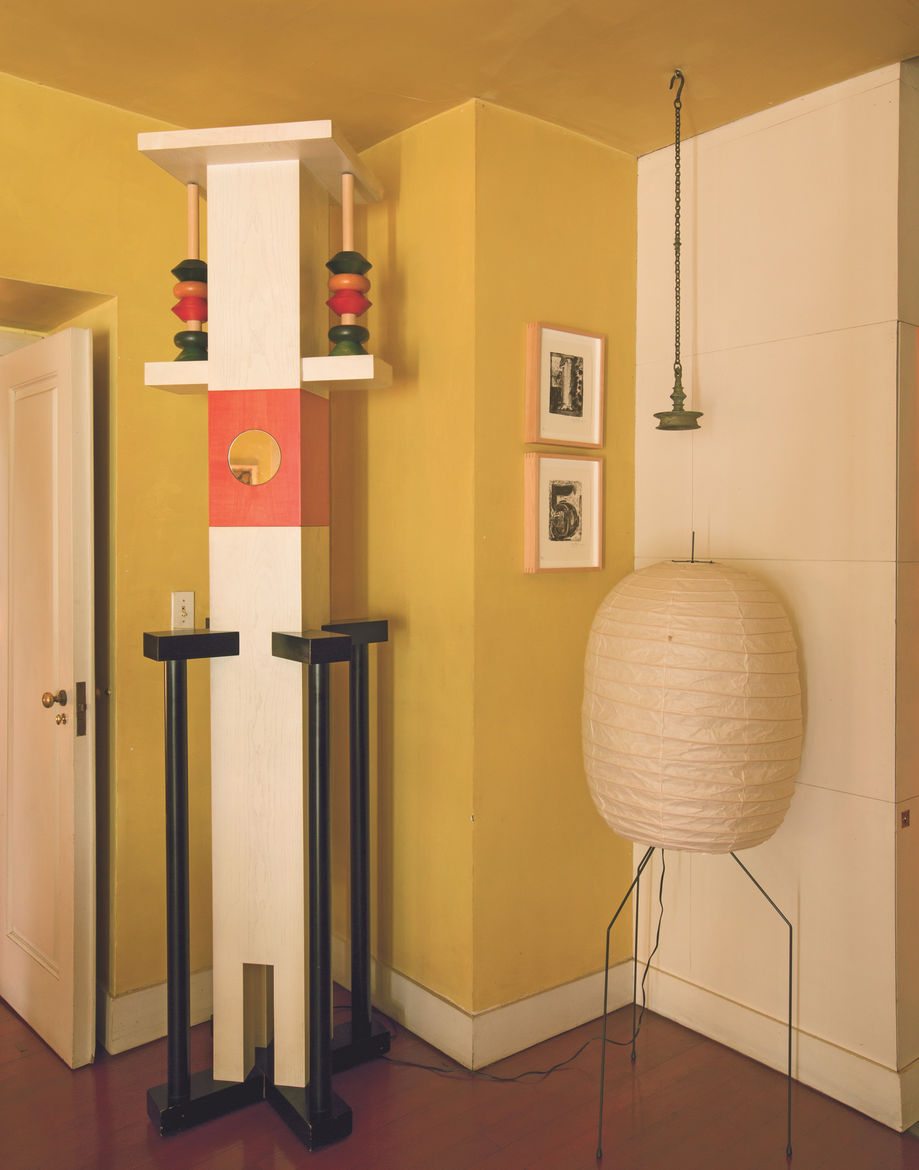 Home of painter Francesco Clemente with Ettore Sottsass totem.