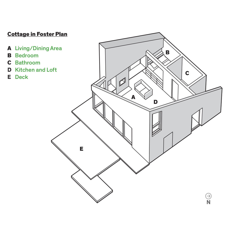 Modern small space Rhode Island cottage floor plans