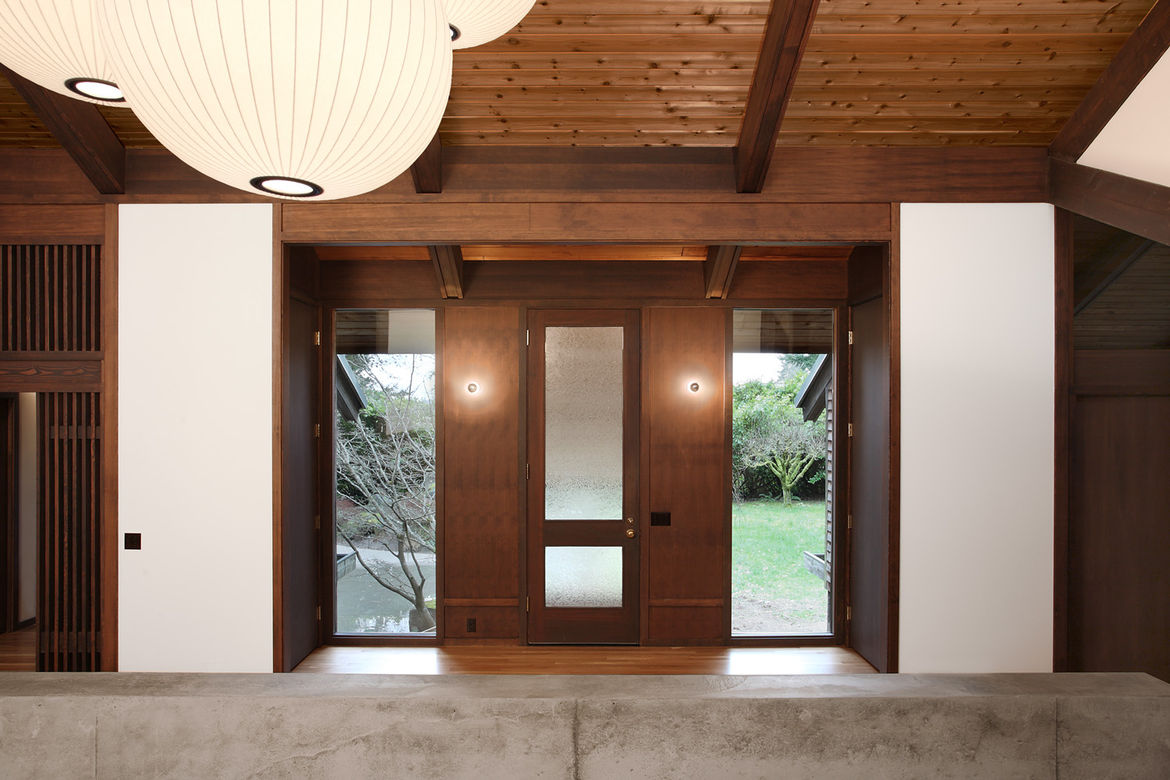 Japanese-Inspired Bainbridge Island house wooden interior