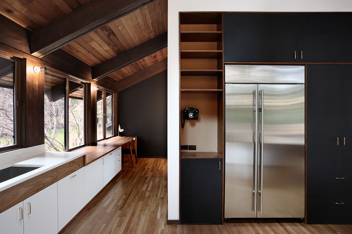 Japanese-Inspired Bainbridge Island house kitchen