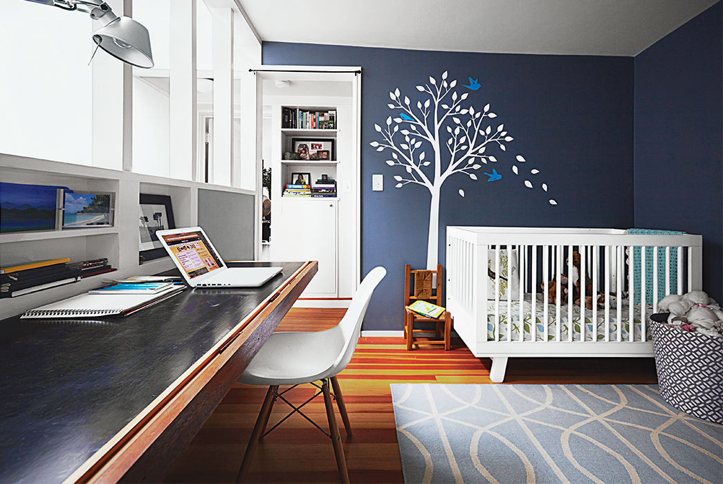 Boston Pops renovation small space office kid's room.