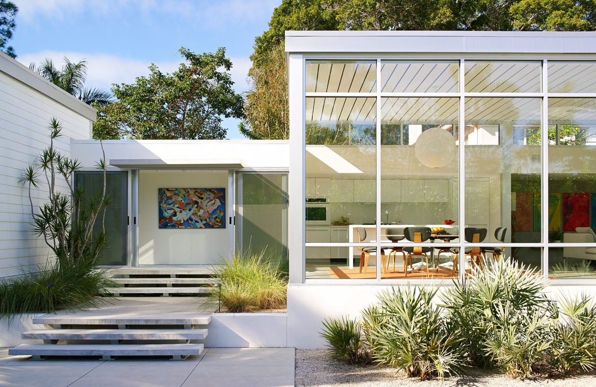 Modern Florida seaside home with epic metals roof