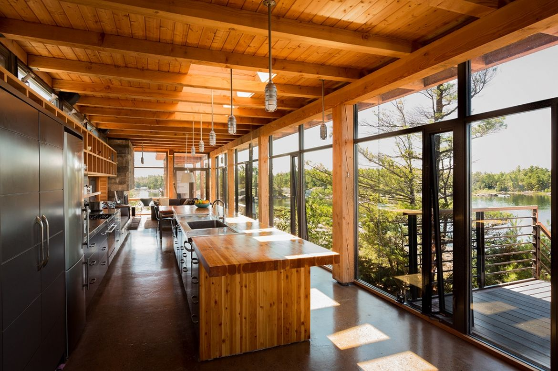Charles Gane Cottage kitchen and Douglas fir island.