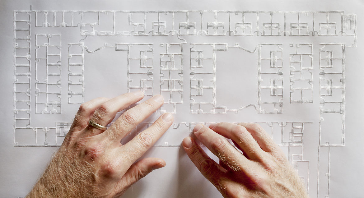 Tiger Pro embossed architectural plan for the visually impaired