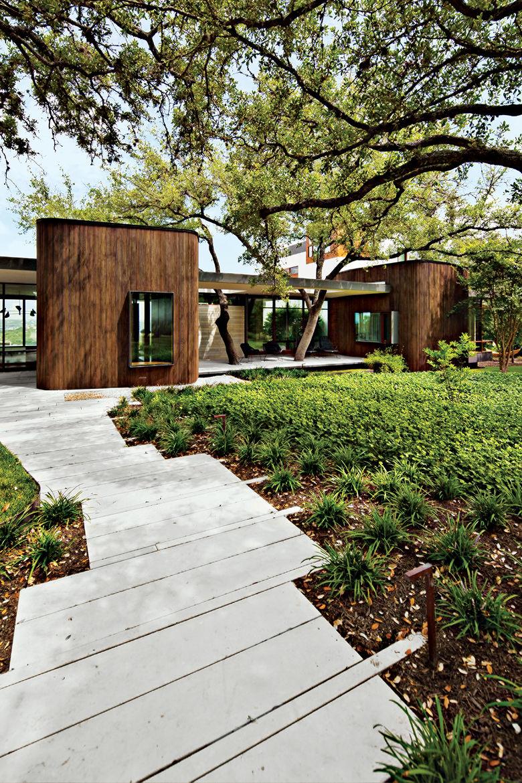 modern landscaping garden south paved walkway runoff