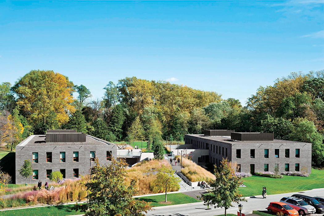 Dorm at Haverford designed by Tod Williams Billie Tsien Architects