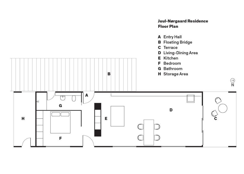 Copenhagen floating home floor plan