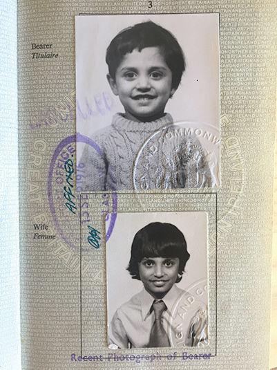 Portrait of Zubin Shroff as a child.