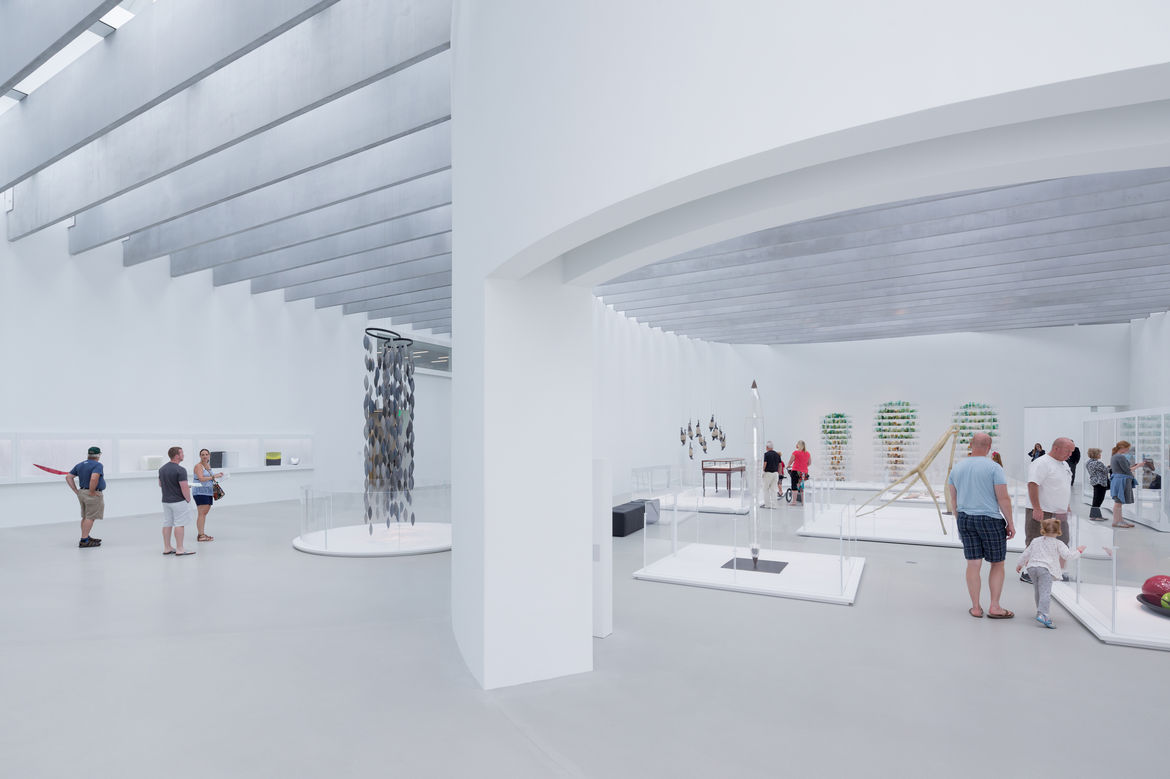 View of contemporary gallery in the Contemporary Art + Design Wing at the Corning Museum