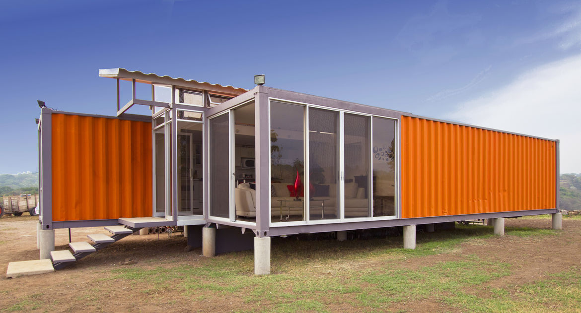 Costa Rica container home on piers