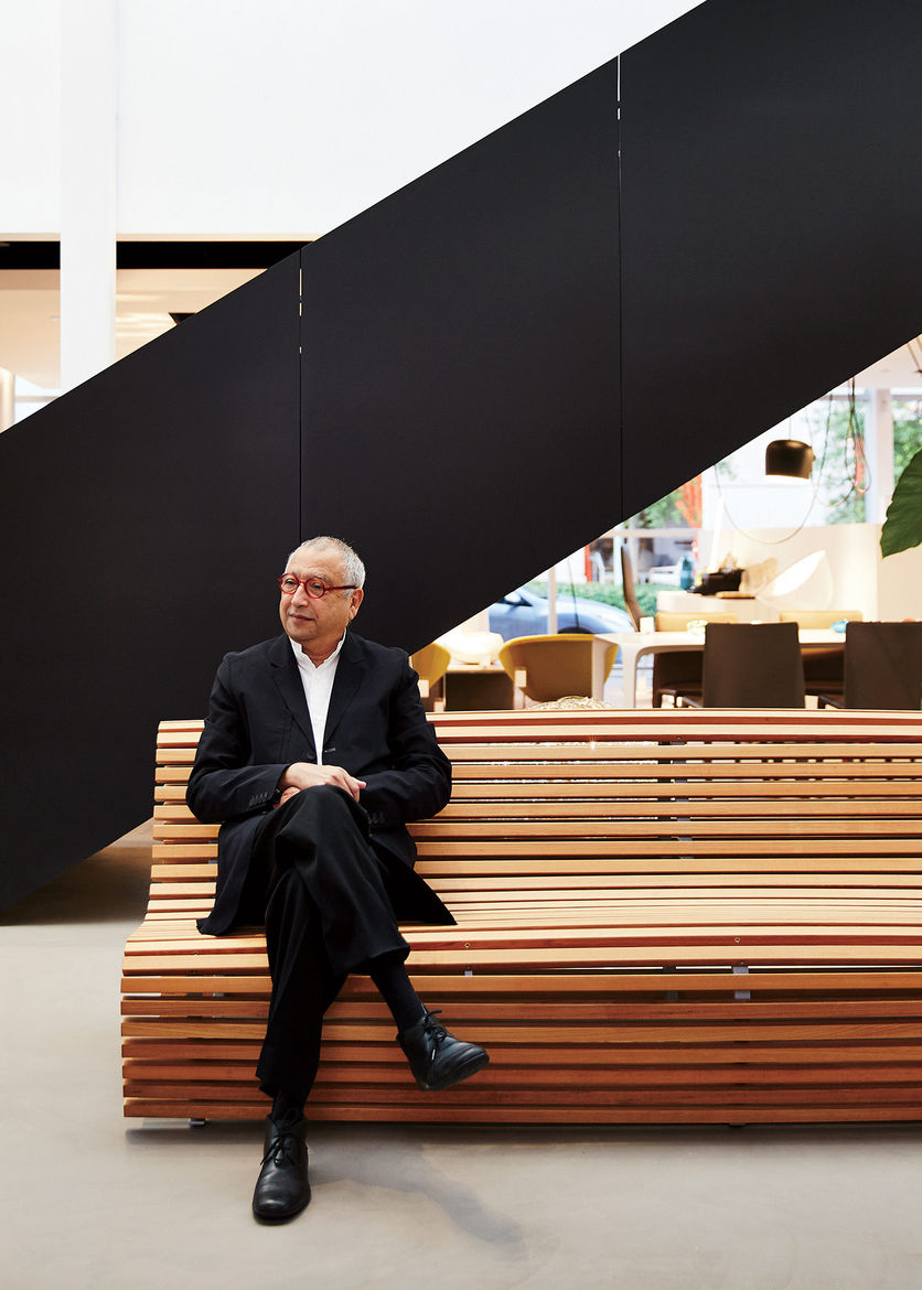 Luminaire cofounder Nasir Kassamali in one of his showrooms.