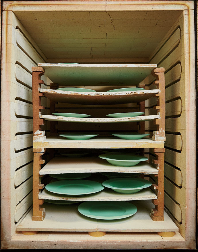 A collection of plates in the Replacements warehouse