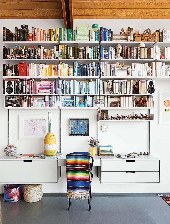 modern dwellings kalmic house quincy jones living room shelving system