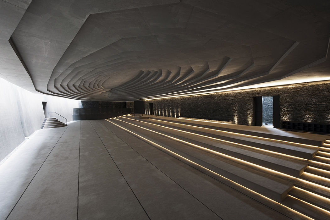 Modern religious architecture like the Sancaklar Mosque with an interior courtyard and prayer hall