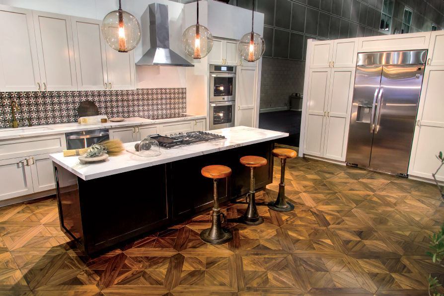Dekton by Cosentino countertops at the LG Re-Imagination Pavilion of Dwell on Design Los Angeles 2015.