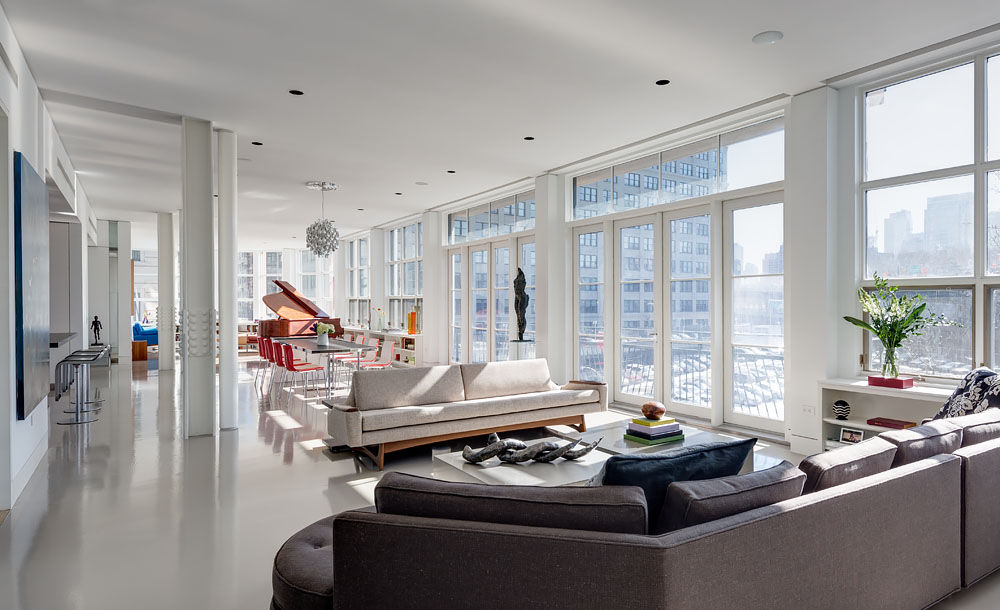 Brooklyn open-plan living area