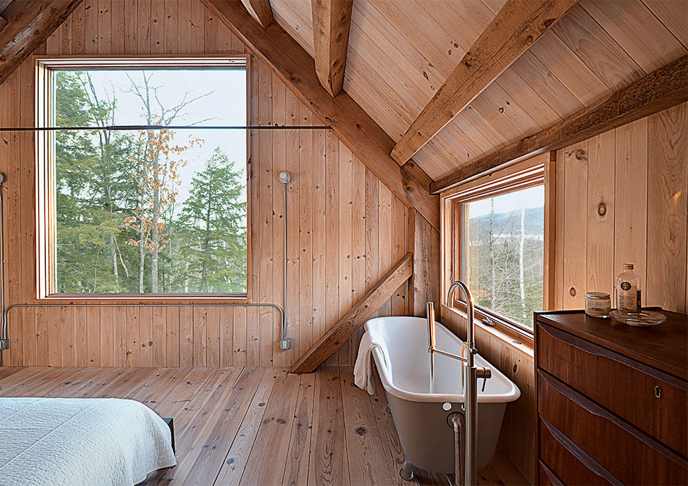 Master suite in a New Hampshire house