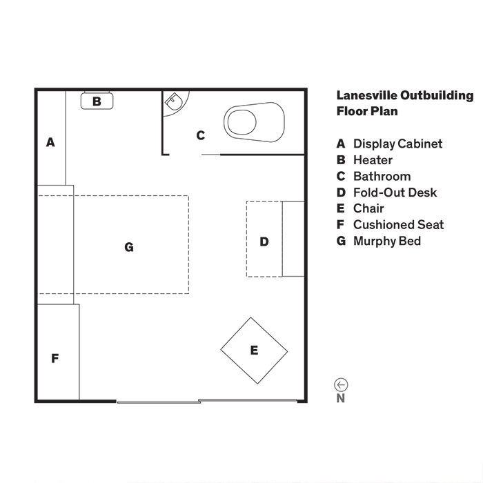 Floor plan of a backyard addition to a Massachusetts home