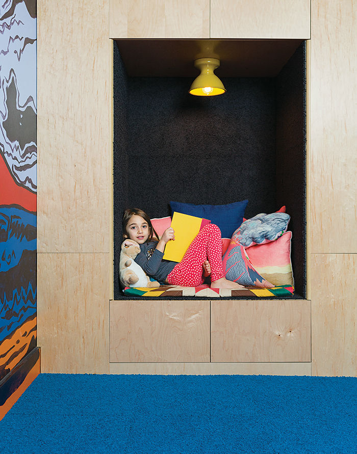 Family Matters kid's room reading nook.