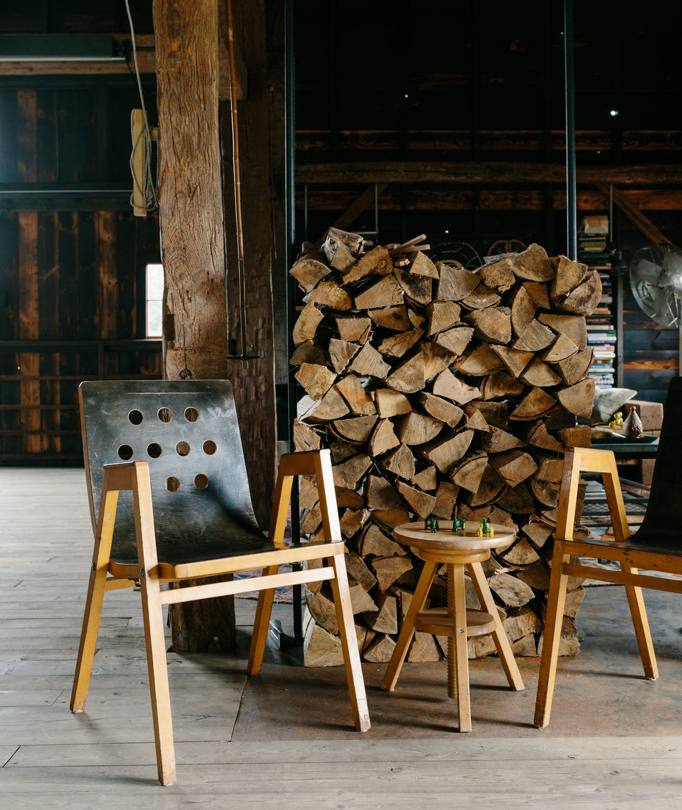 Vintage stacking chairs for any occasion to entertain guests.