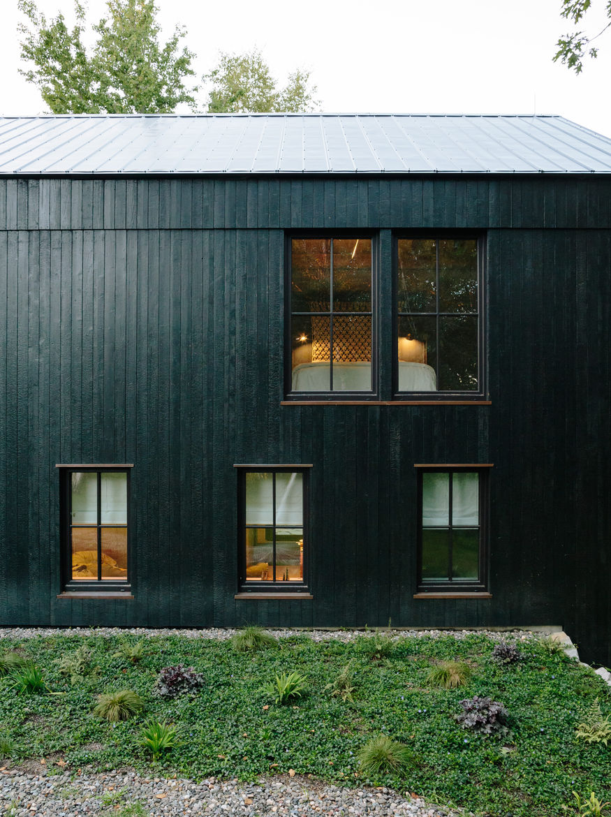 A former barn in Hudson Valley, New York transformed into a sustainable home.