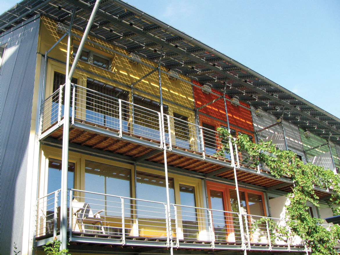 Solar-powered house in Freiburg, Germany