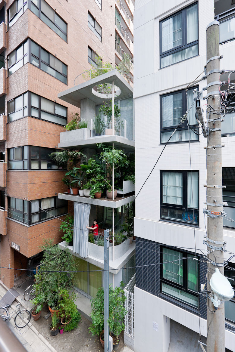 Garden and House, designed by Ryue Nishizawa, in Tokyo, Japan
