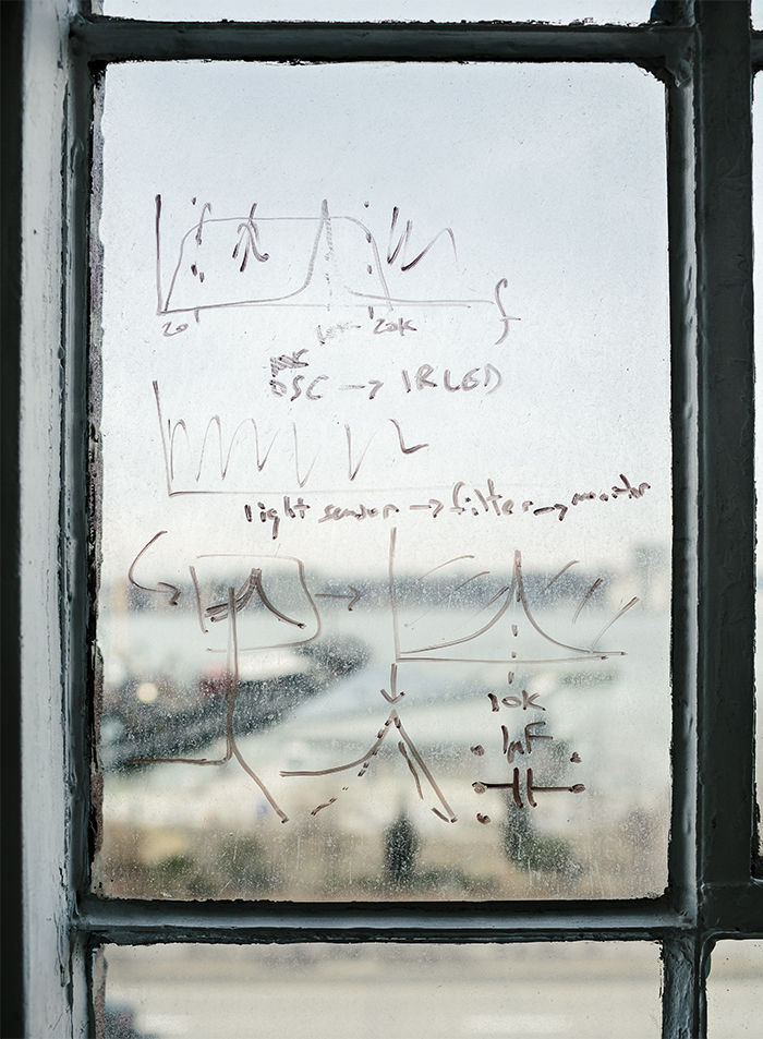 Sketches on the window of the littleBits office in Chelsea
