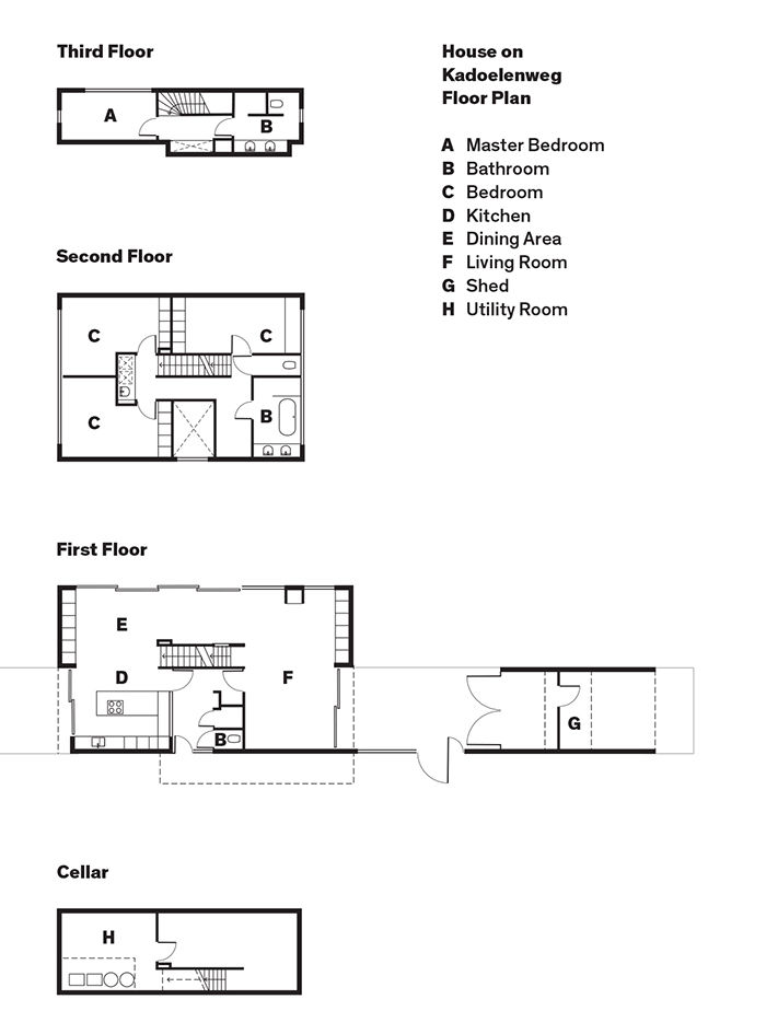 Amsterdam canal house floor plans