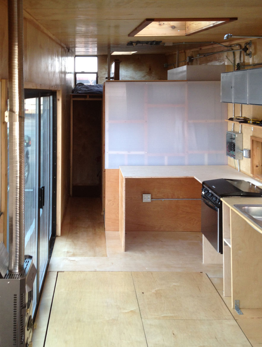 Woody the Trailer kitchen construction