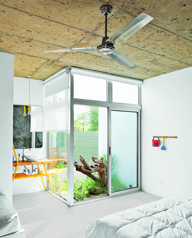 modern beach houseguest room interior garden vanity
