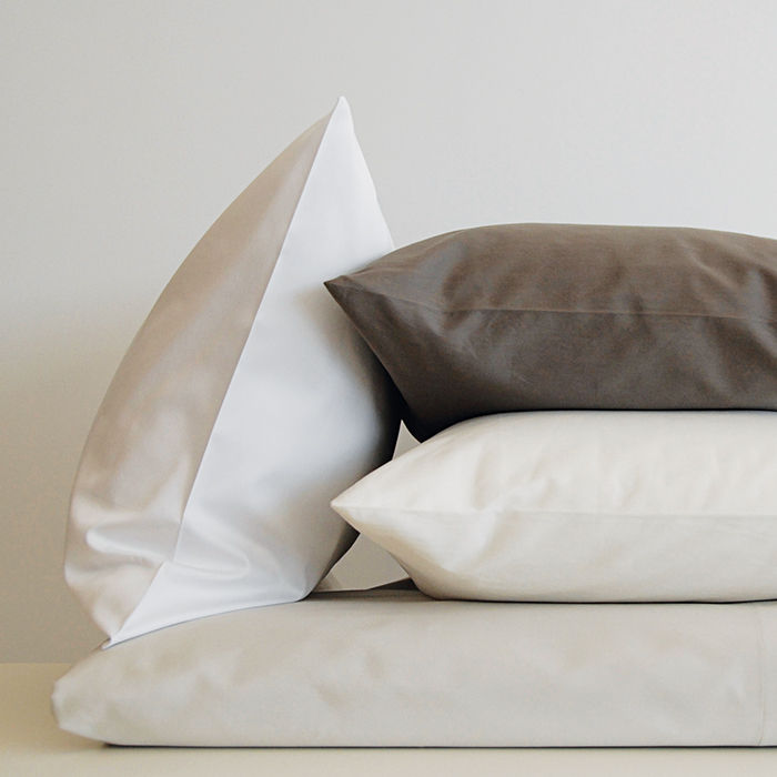 q&A with Modern design leaders like David Alhadeff of The Future Perfect who recommends Area home Pearl shadow sheets and pillowcases