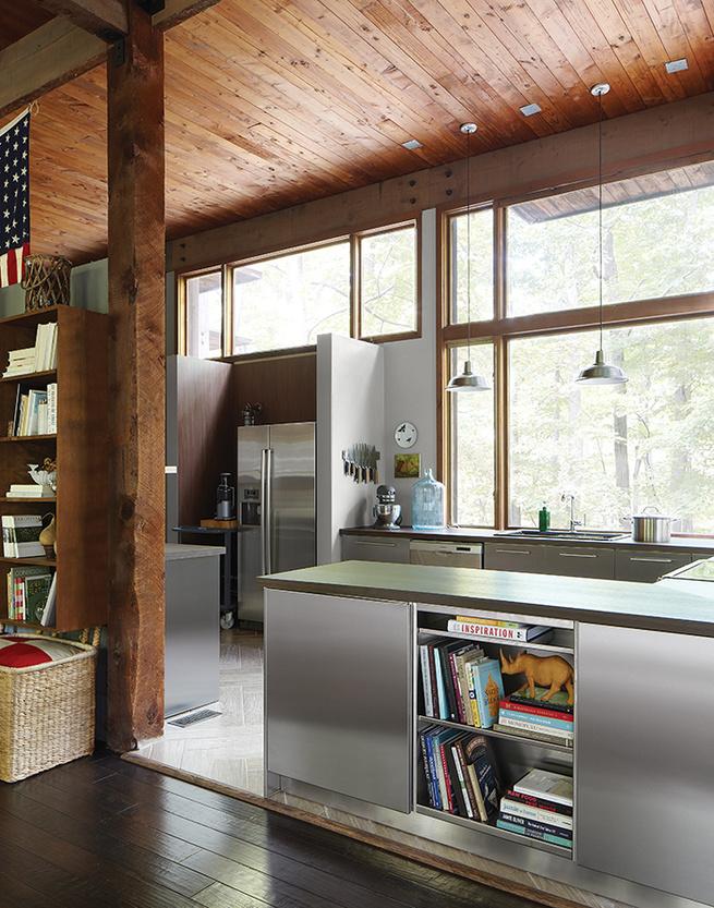 kitchen seo residence stainless steel ceramic tiles walnut book shelf