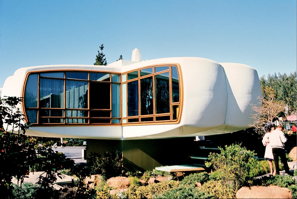 """House of the Future, Disneyland, 1957 - 1967, Kodachrome image from the Charles Phoenix """"Slibrary"""" Collection"""
