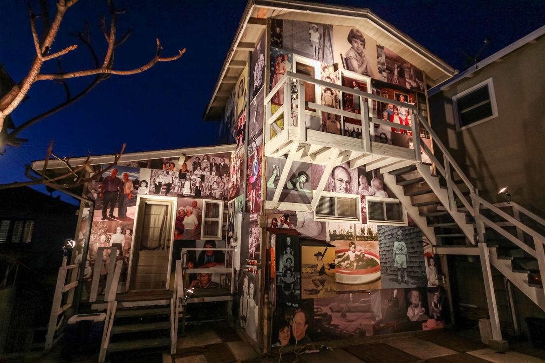 House in Manhattan Beach, California, with a photo-clad facade