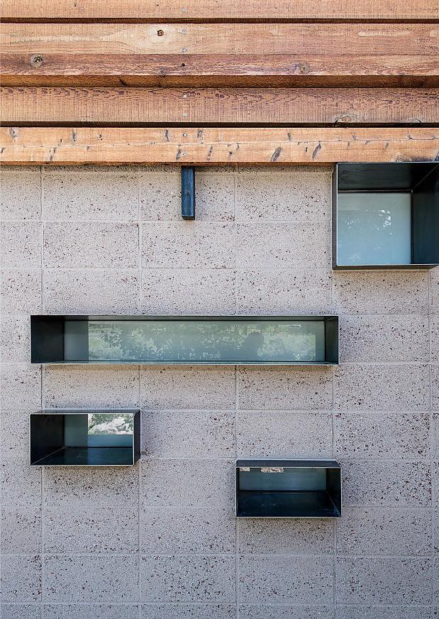 Bancroft residence irregular windows.