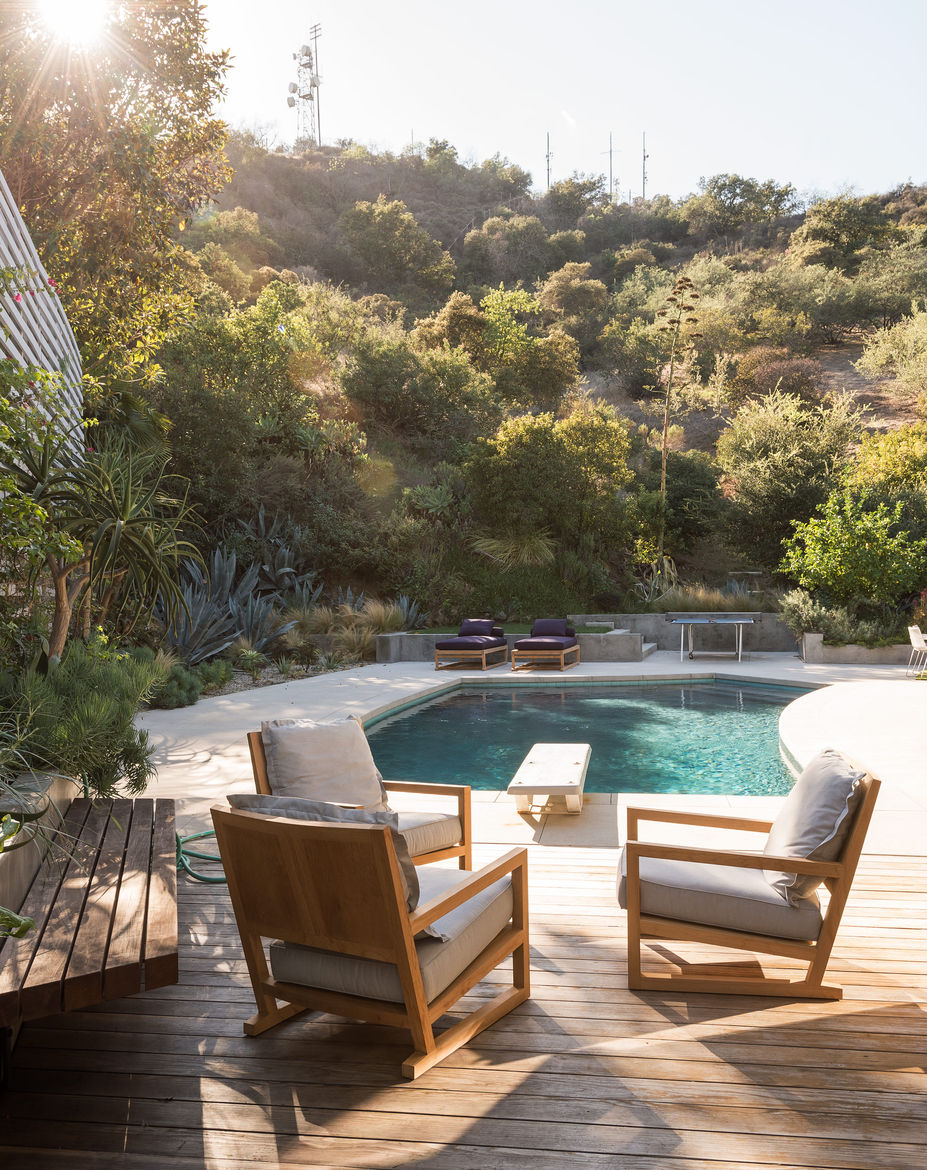 Mandy Graham designed the armchairs and lounges at this pool area.